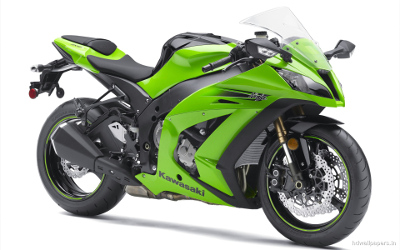 Motorrad grün
